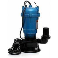 Hucoco - DCRAFT | Pompe submersible à eau sale avec broyeur | Débit 21000l | Puissance 2850W | Hermétique l Pompe évacuation eaux sales - Bleu