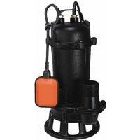 Hucoco - DCRAFT | Pompe submersible à eau sale avec broyeur + flotteur | Débit 25000l | Puissance 3200W l Pompe évacuation eaux | Noir - Noir