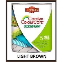Garden Decking Paint - Light Brown - 2.5 Litres - Liberon