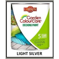 Garden Decking Paint - Light Silver - 2.5 Litres - Liberon