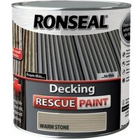 37613 Decking Rescue Paint Warm Stone 2.5 Litre - Ronseal