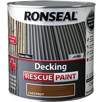 Decking Rescue Paint - For New Look Decking - 2.5 Litre - Chestnut - Ronseal