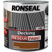 Ronseal Decking Rescue Paint - For New Look Decking - 2.5 Litre - Maple