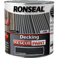 Ronseal Decking Rescue Paint - For New Look Decking - 2.5 Litre - Charcoal