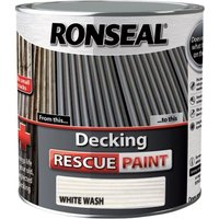 Decking Rescue Paint - For New Look Decking - 2.5 Litre - White Wash - Ronseal