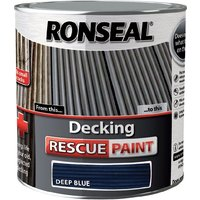 Decking Rescue Paint - For New Look Decking - 2.5 Litre - Deep Blue - Ronseal