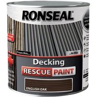 Decking Rescue Paint - For New Look Decking - 2.5 Litre - English Oak - Ronseal