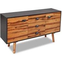 Deena Solid Acacia Wood Sideboard by Brown - Bloomsbury Market