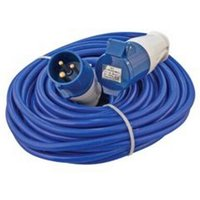 Loose Cable Extension Leads 240v with Fitted Plug and Socket 16amp - 14m x 2.5mm - Defender