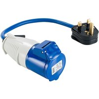 Fly Lead Adaptor (13amp Plug and 16amp Socket 240v) - Defender