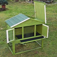 Deluxe Chicken Coop hen-house Box Rabbit Hutch L 117 x T 66 x H 114,5 cm - MERCATOXL