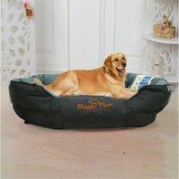 Deluxe Jumbo Dog Bed Soft Removable Cushion Warm Luxury Warm Pet Basket, Size XXL (52)