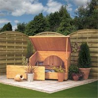 Deluxe Tongue And Groove Garden Chest 46 x 211 (1.38m x 0.9m) - CHESHIRE (R)