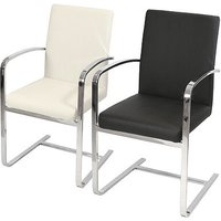 Derick Chrome Carver Kitchen Dining Chairs With Arms 3 Colours Cream - NETFURNITURE