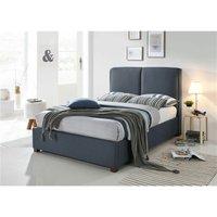Designer Fabric Dark Grey Bed Frame - Double 4ft 6
