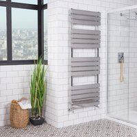 Warmehaus - Juva 1600 x 600mm Chrome Flat Panel Heated Towel Rail - please select - please select