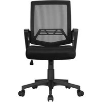 Desk Chair Ergonomic Office Chair Adjustable and Swivel Fabric Mesh Chair with Comfortable Lumbar Support - YAHEETECH