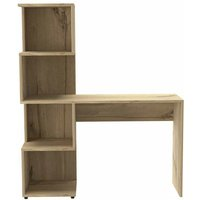 Home Furniture Ideas - desk with tall shelving unit (left side)