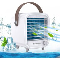 Betterlifegb - Desktop Portable Air Cooler for Office, Personal Mini Air Conditioner Units for Home, Small Mobile Cooling Air Ice Fan with