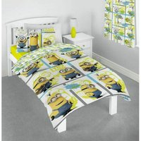 I Try Harder Minions Duvet Cover Set (Single) (White/Yellow/Blue) - Despicable Me