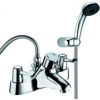 Deva Lever Action 3 Inch Thermostatic Bath Shower Mixer Tap - Chrome