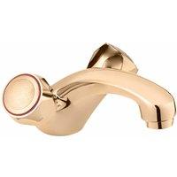 Profile Mono Basin Mixer Tap with Pop Up Waste - Gold - Deva