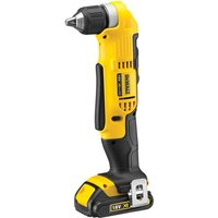 Dewalt DCD740C1 18V XR Right Angle Drill / Driver With 1 x 1.5Ah Battery Charger In Carry Case:18V
