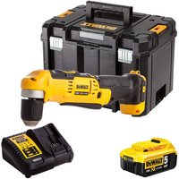 Dewalt DCD740N 18V Right Angle Drill with 1 x 5.0Ah Battery and Charger in TSTAK:18V