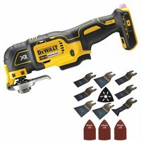 Dewalt DCS356N 18 Volt Brushless Oscillating Multi Tool Cutter with 39 Piece Accessories Set