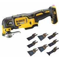 Dewalt DCS356N 18 Volt Brushless Oscillating Multi Tool Cutter with 8 Piece Accessories Set