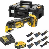 Dewalt DCS356P2 18V Brushless Oscillating Multi Tool Cutter with 8 Piece Accessories Set