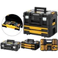Drill Case TStak Combo II + IV Tool Storage Boxes + 100pc Accessory Set - Dewalt