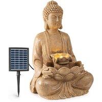 Dharma Solar-Powered Water Fountain, LED, 48x72x41cm (WxHxD), Polyresin