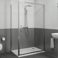 1000x800mm Sliding Shower Door and Side Panel 8mm - Diamond