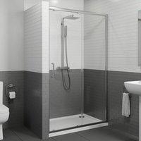 1100mm Sliding Shower Door Enclosure Glass Screen Panel Framed 8mm Safety Glass