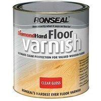 Ronseal 32582 Diamond Hard Floor Varnish Gloss 2.5 Litre