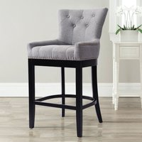 Dining Chairs Velvet Fabric Leather Pad Kitchen Dinner Breakfast Bar Table Stool Light Grey