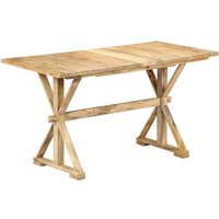 Youthup - Dining Table 118x58x76 cm Solid Mango Wood