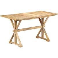 Zqyrlar - Dining Table 118x58x76 cm Solid Mango Wood - Brown