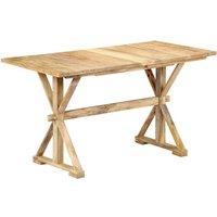 vidaXL Dining Table Solid Mango Wood 118x58x76 cm - Brown
