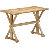 Zqyrlar - Dining Table 140x70x76 cm Solid Mango Wood - Brown