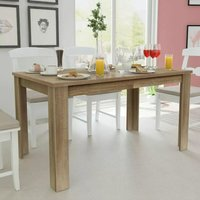 Youthup - Dining Table 140x80x75 cm Oak