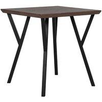 Industrial Dining Room Table 70 x 70 cm Metal Base Flared Legs Dark Wood Bravo