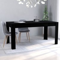 Youthup - Dining Table Black 160x80x76 cm Chipboard