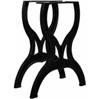 Youthup - Dining Table Legs 2 pcs X-Frame Cast Iron