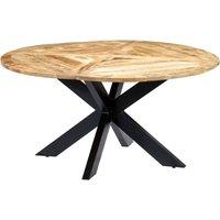 Zqyrlar - Dining Table Round 150x76 cm Solid Mango Wood - Brown
