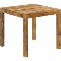 Zqyrlar - Dining Table Solid Mango Wood 82x80x76 cm - Brown