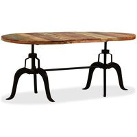 Dining Table Solid Reclaimed Wood and Steel 180 cm - VIDAXL