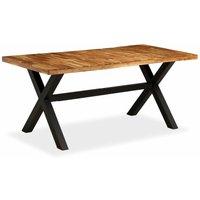 vidaXL Dining Table 180x90x76 cm Solid Acacia and Mango Wood - Brown