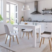 Youthup - Dining Table White 120x60x76 cm Chipboard